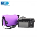 JJC OC-S1PE Neoprene Camera Case Mirrorless For Sony, Canon Camera Pouch Bag (Purple)